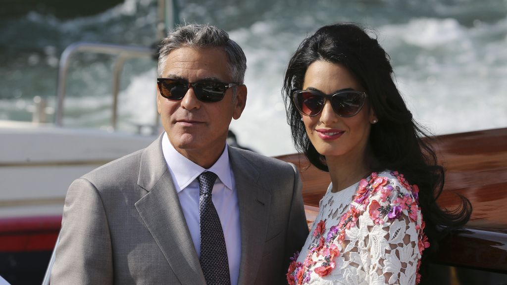 George Clooney y Amal Alamuddin como marido y mujer