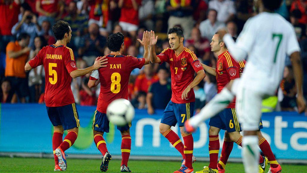 David Villa vuelve a la selección tras permanecer varios meses lesionado