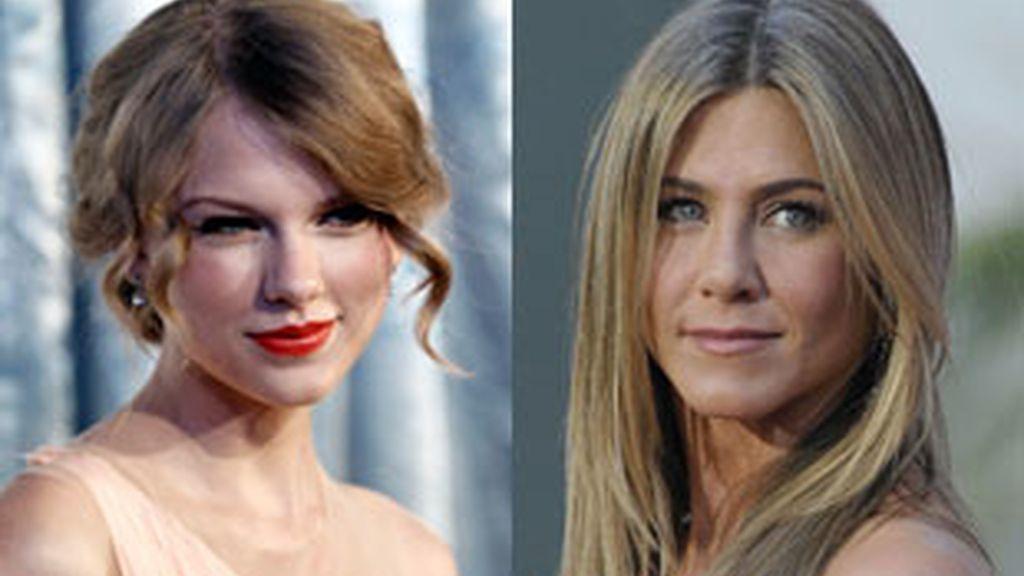 Taylor Swift y Jennifer Aniston, protagonistas de algunas de las rupturas más sonadas. Fotos: Gtres