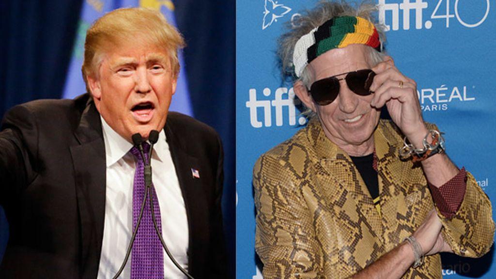 Donald Trump y Keith Richards