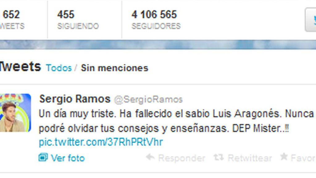 Sergio Ramos transmite el sentir de todos por la muerte de Luis Aragonés