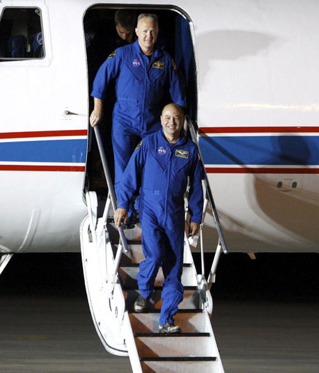 La tripulación del Endeavour regresa