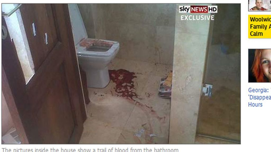 Salen a la luz las imágenes de la escena del crimen en la casa de Pistorius