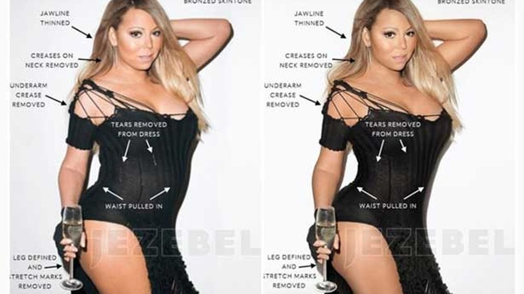 Aparecen fotos de Mariah Carey sin Photoshop