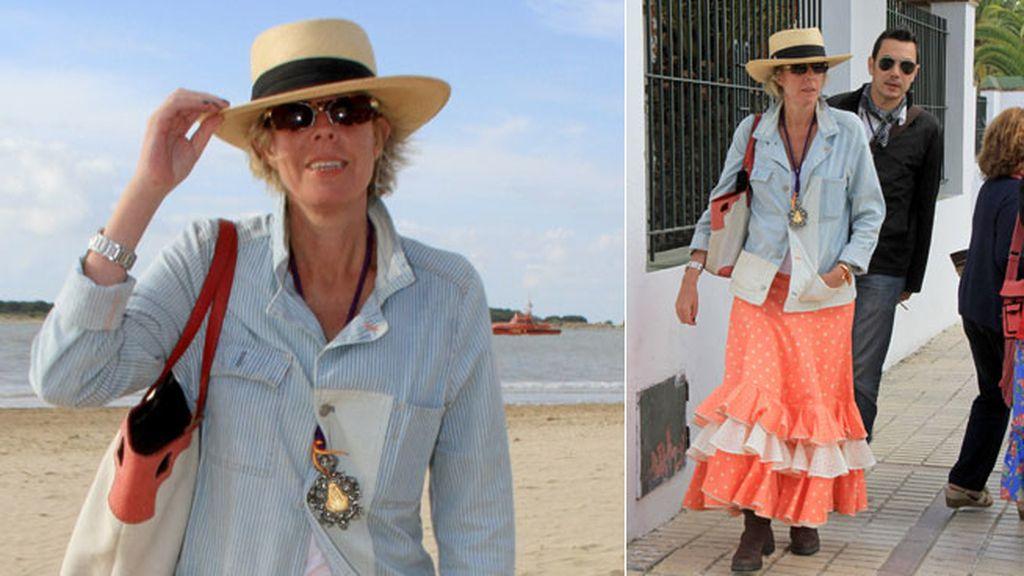 Simoneta Gómez Acebo se decantó por un color primaveral para su vestido