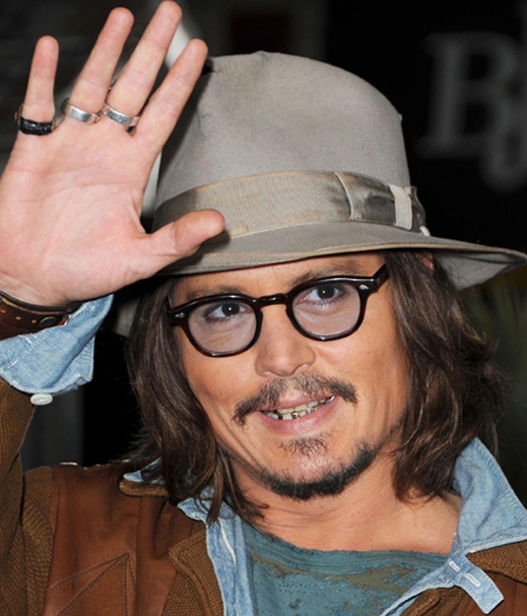 El mediático Johnny Deep, durante la premiere de la película Rango