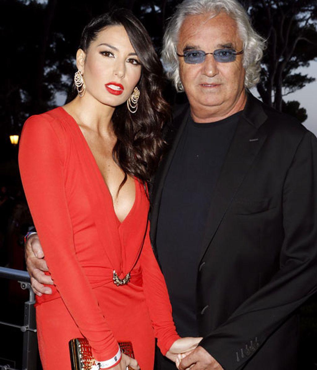 La modelo Elisabetta Gregoraci y  Flavio Briatore
