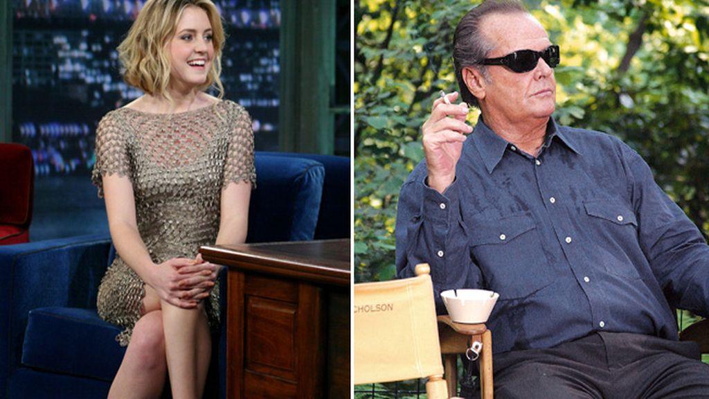 Lorraine y su padre Jack Nicholson