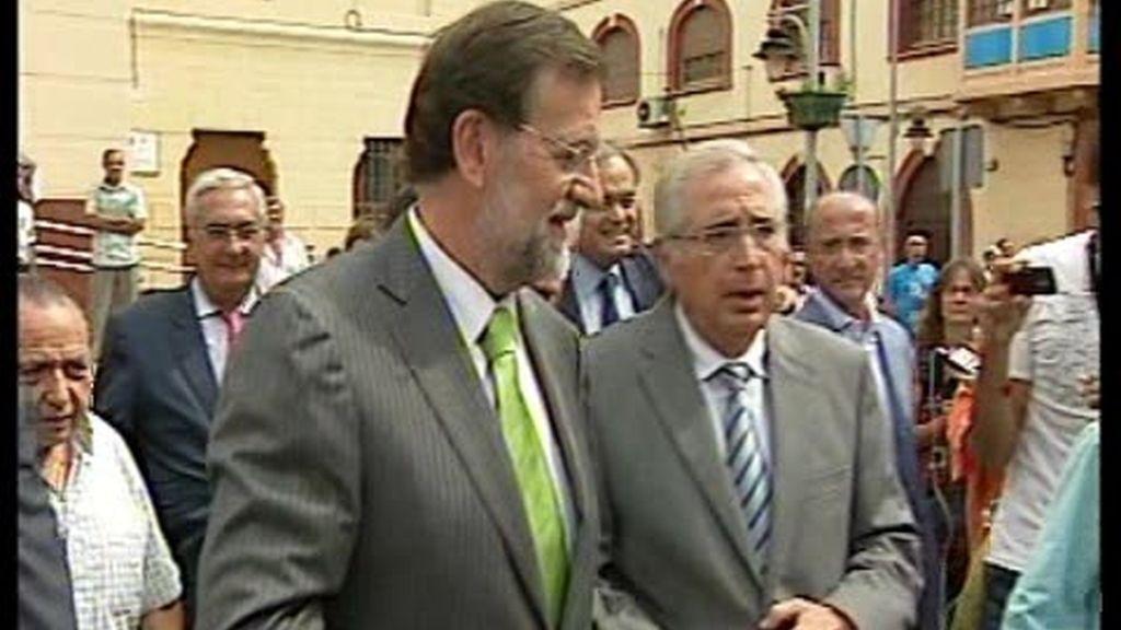 """Rajoy visita Melilla """"en positivo"""""""