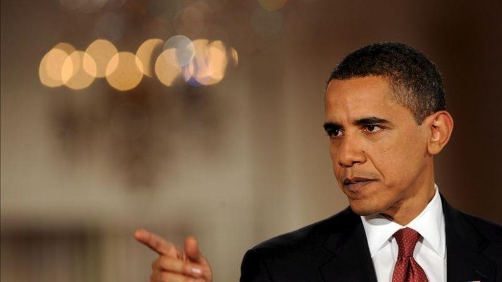 """En un comunicado, El presidente de EE.UU., Barack Obama, afirmó: """"EE.UU. condena en los términos más enérgicos posibles el uso de la fuerza por parte del Gobierno sirio contra los manifestantes."""". EFE/Archivo"""