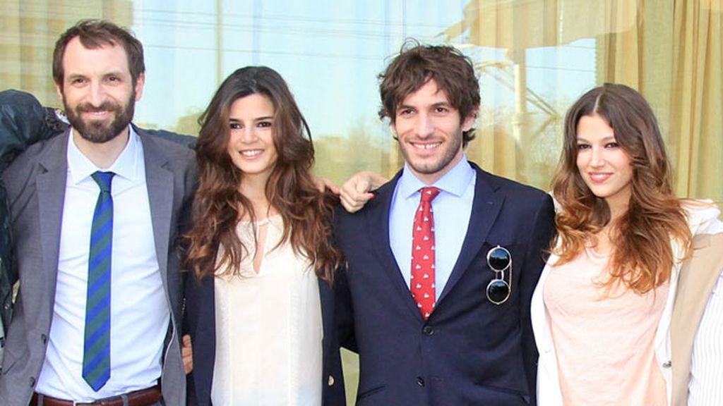 Julián Villagrán, Clara Lago, Quim Gutiérrez y Úrsula Corberó, protagonistas de la película