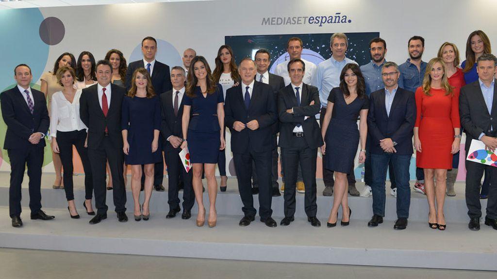 El equipo de Informativos Telecinco