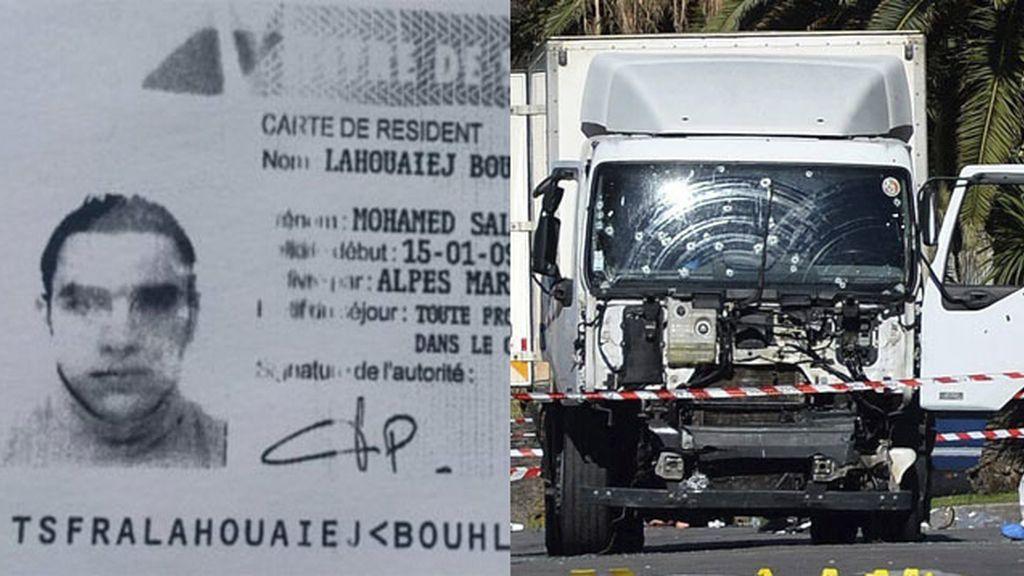 Mohamed Lahouaiej Bouhlel y camión