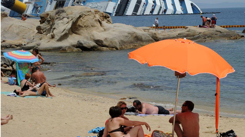 De vacaciones junto al Costa Concordia