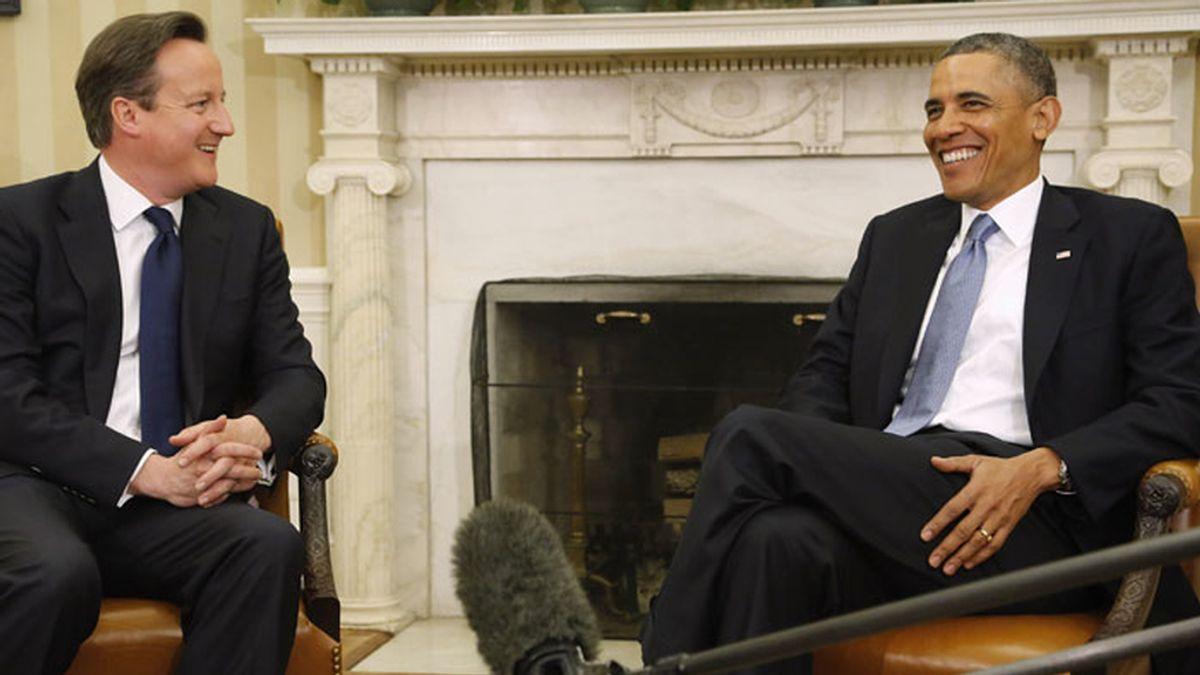 Cameron y Obama, cara a cara en la Casa Blanca