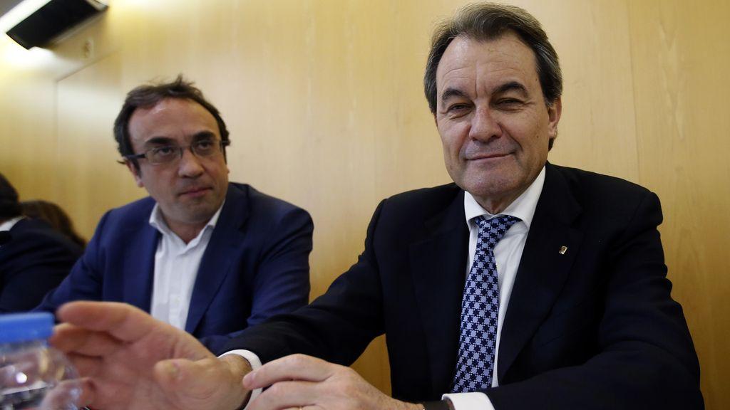 Josep Rull y Artur Mas en una reunión de CDC