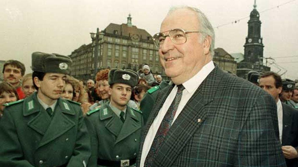 Helmut Kohl, canciller de la reunificación