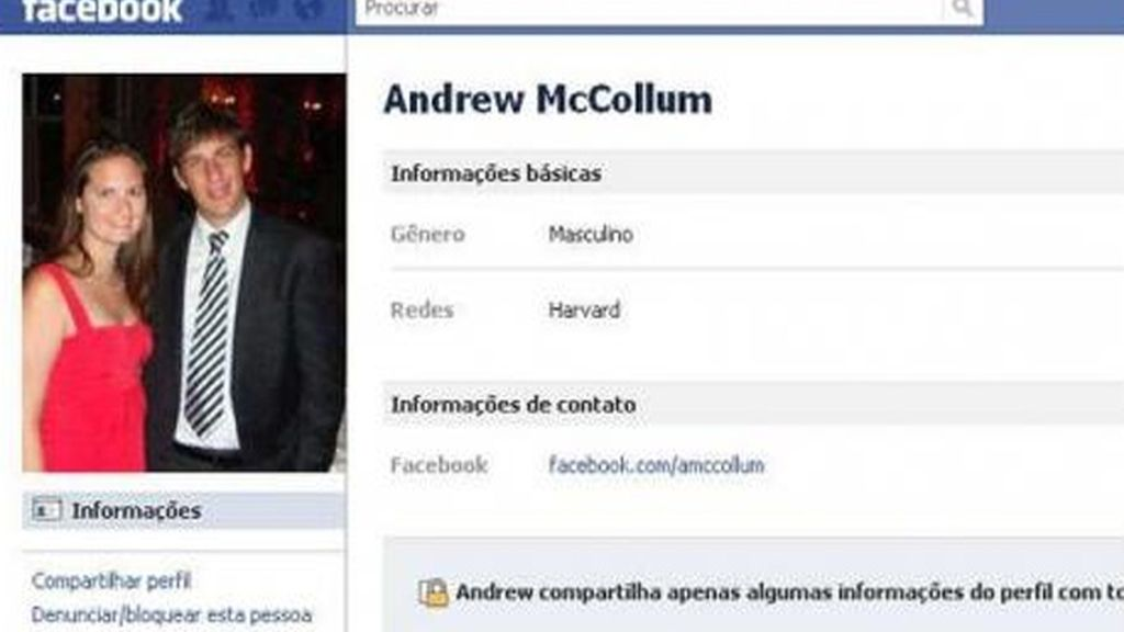 Andrew McCollum: Creó el logo original de Facebook.