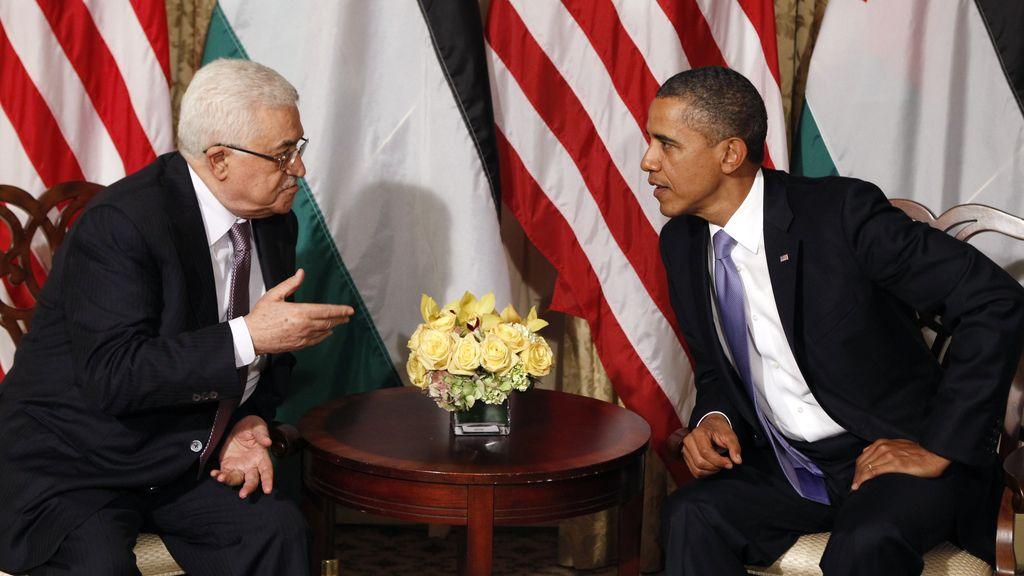 El presidente estadounidense, Barack Obama, se reúne con mandatario palestino, Mahmud Abbas, en Nueva York