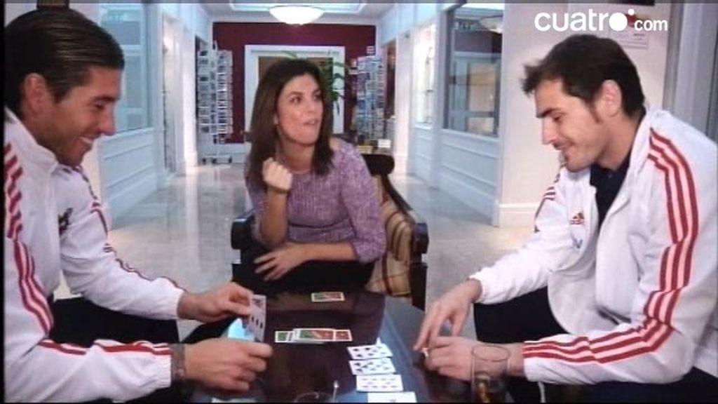 La Roja: Póquer y confidencias con Íker Casillas y Sergio Ramos