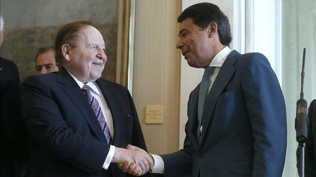 Sheldon Adelson, Ignacio González, Eurovegas