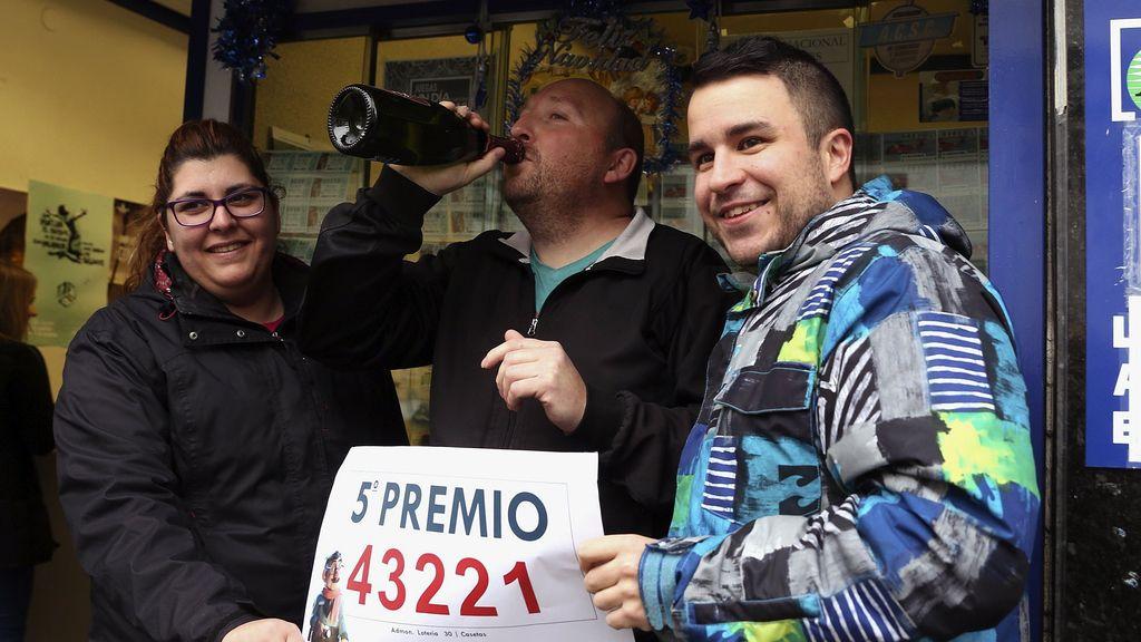 Quinto premio loteria en casetas (Zaragoza)