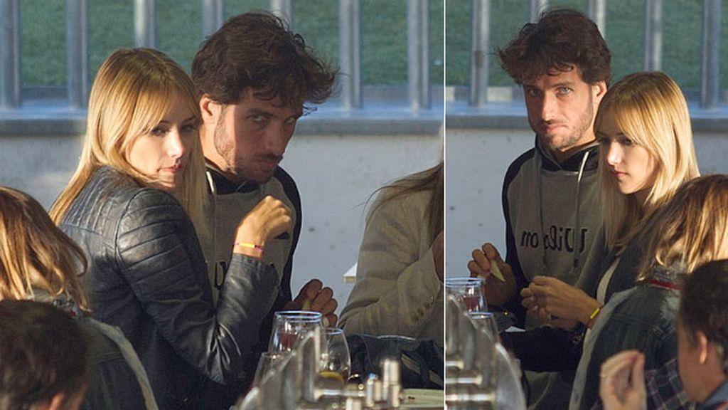 Durante la comida, Feliciano tenía cara de querer pocas fotos