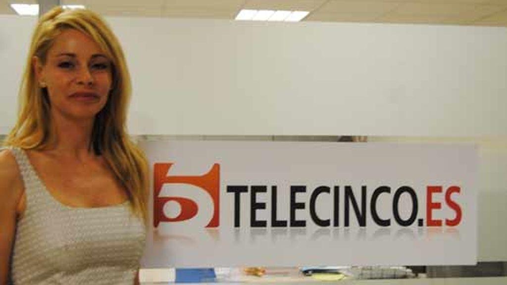 Belén Rueda visita telecinco.es