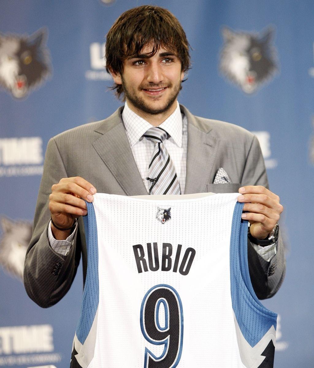 Ricky Rubio, con la camiseta de Minnesota