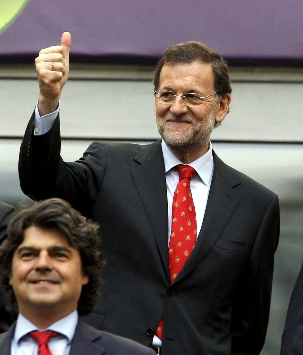 El presidente del Gobierno, apoyando a La Roja