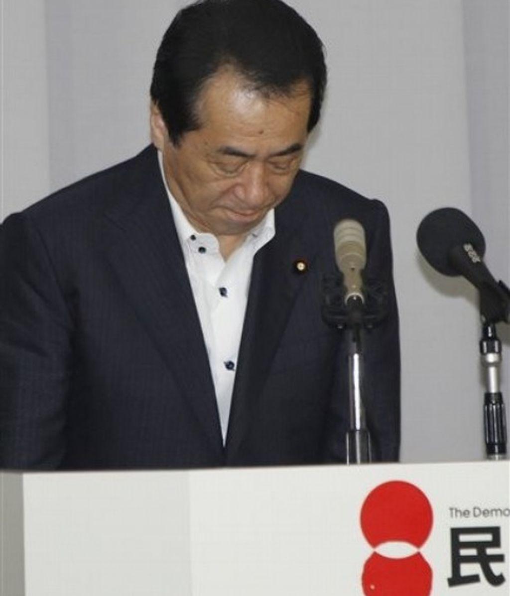 Imagen de archivo del primer ministro japonés, Naoto Kan