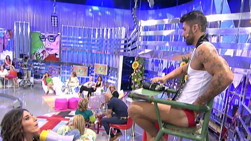 Francisco Pérez, Mr Gay Pride España 2015, visita 'Sálvame'