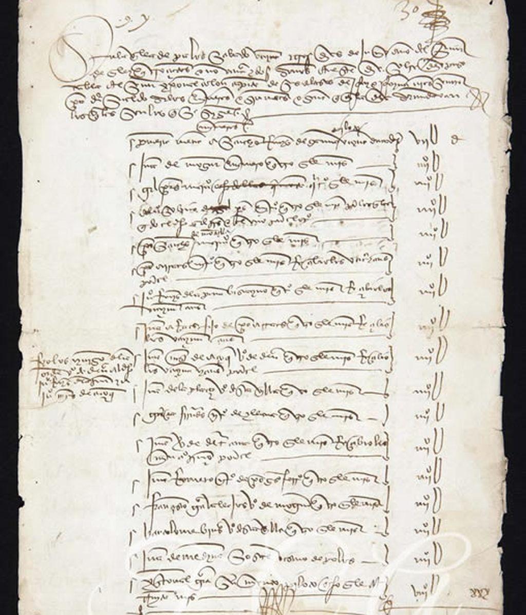 Manuscrito de Cristóbal Colón