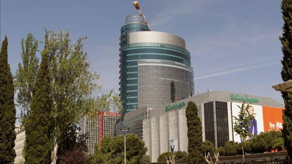 Edificio de El Corte Inglés en el Paseo de la Castellana de Madrid