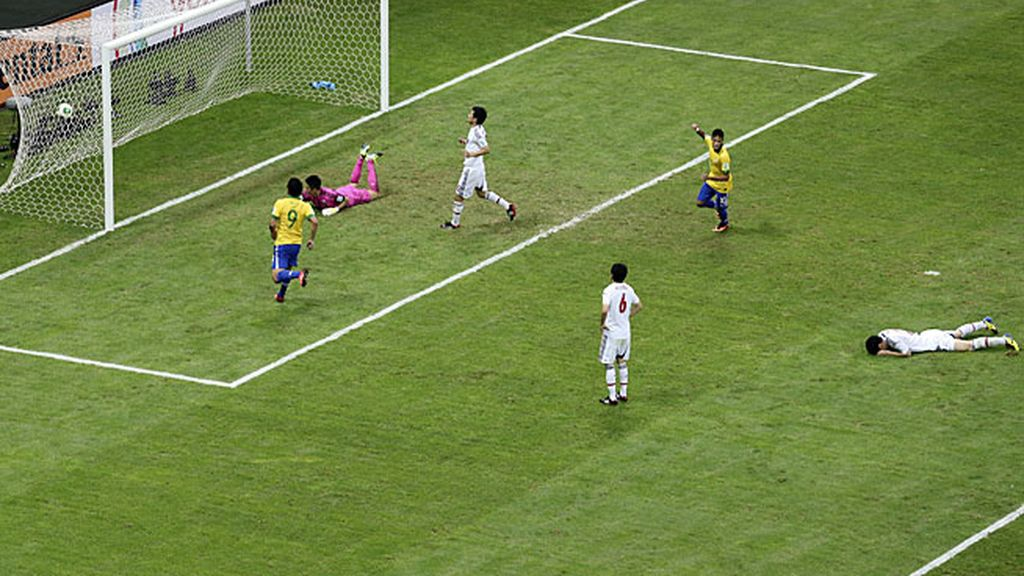 El segundo gol de Brasil hundió a Japón