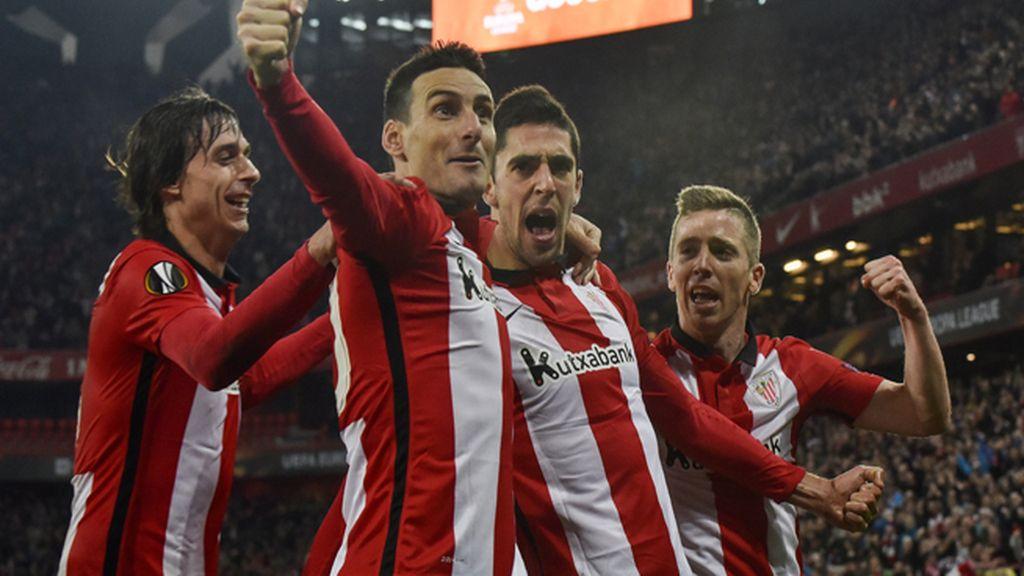 Sabin Merino mete al Athletic en octavos de Europa League