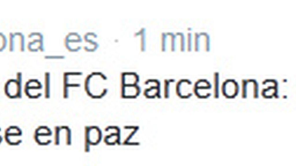 Tuit Barça