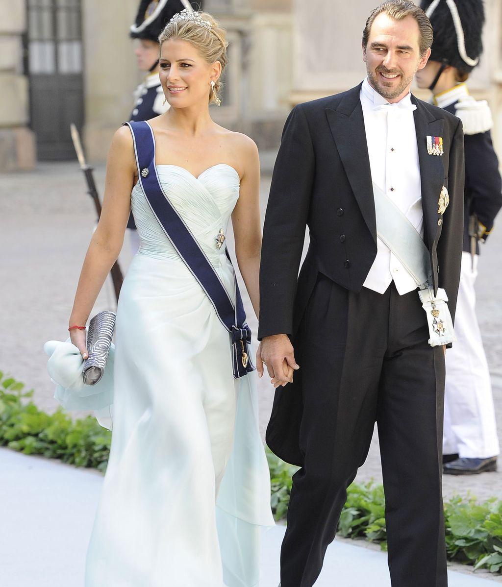 Príncipe Nikolaos de Grecia y su esposa Tatiana