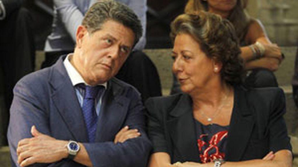 Federico Trillo junto con Rita Barberá han querido apoyar a su compañero FOTO: REUTERS