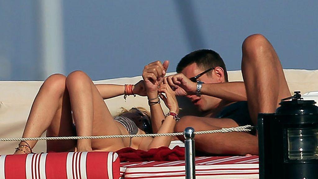 Eugenía Martínez de Irujo estrena corte de pelo en Ibiza