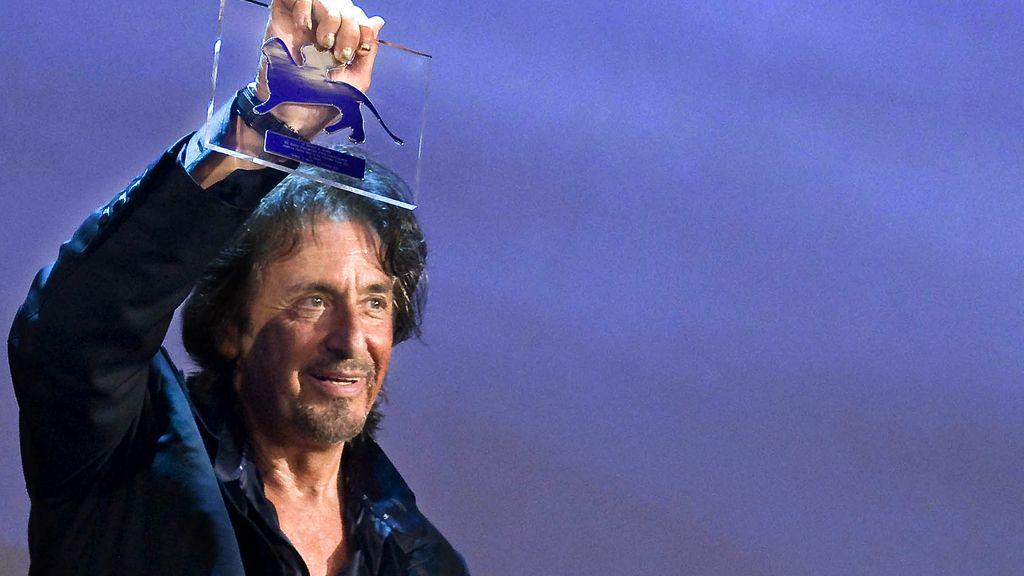Al Pacino recibe un premio a toda  su carrera