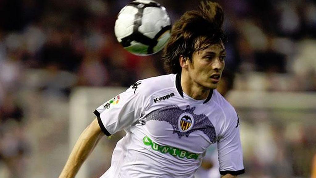 Silva , durante un partido con el Valencia