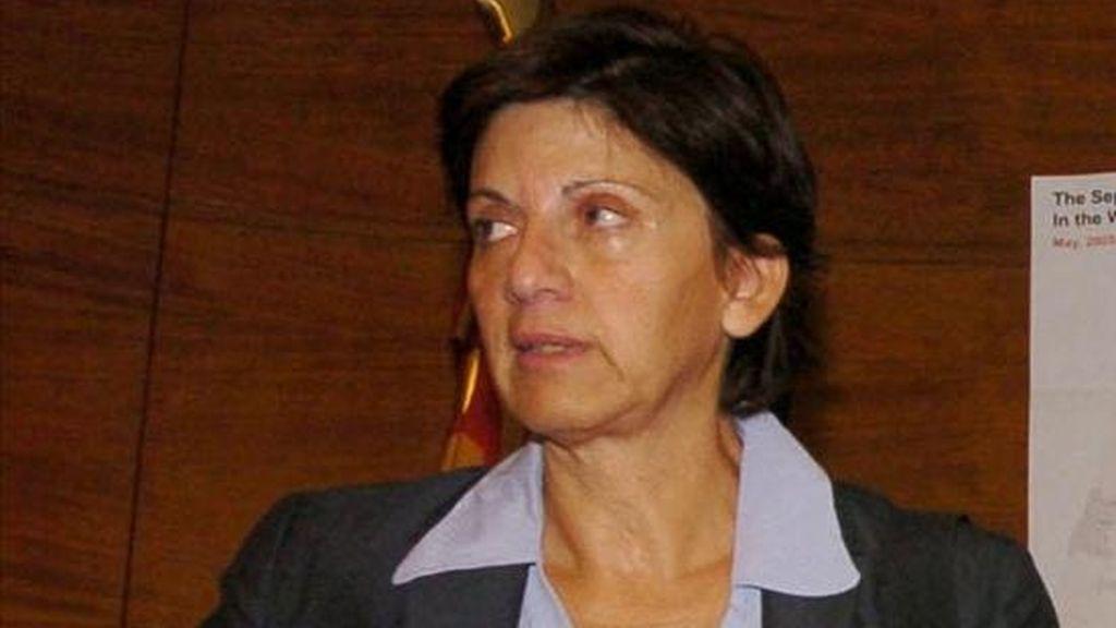 Fátima Aburto, una de las personas de la comitiva. EFE/Archivo