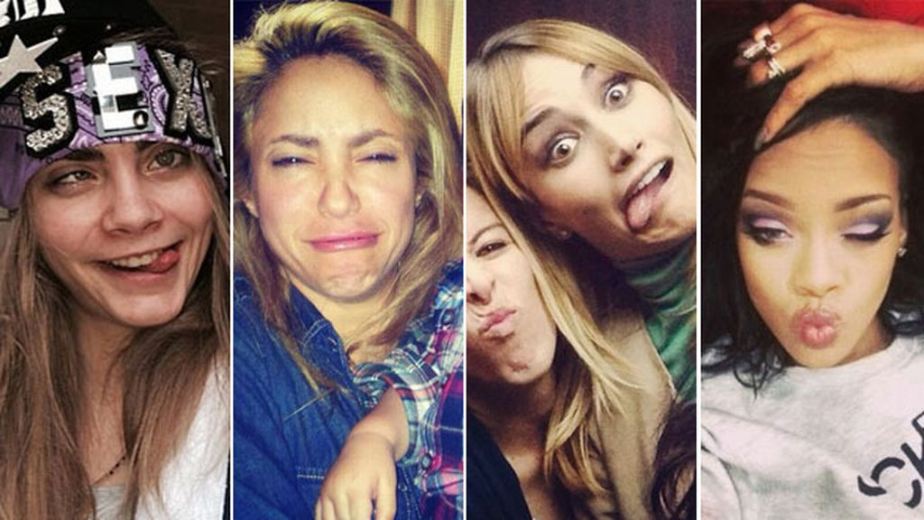 Delevingne, Shakira, Alba Carrillo o Rihanna no se resisten a los 'divi-caretos'