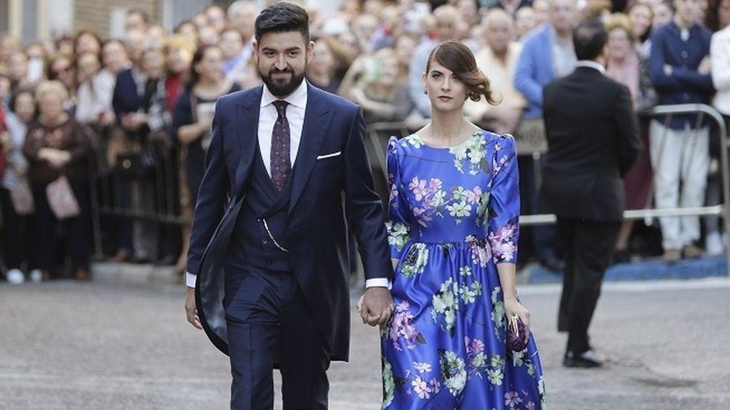 El presentador Manu Sánchez y su mujer