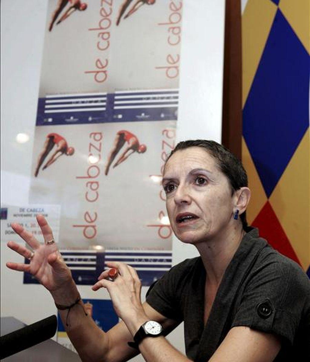 """La bailarina y coreógrafa Teresa Nieto, durante una rueda de prensa para presentar su espectáculo """"De Cabeza"""". EFE/Archivo"""