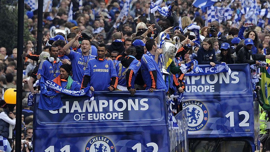 El Chelsea celebra su primera 'Champions' en Londres