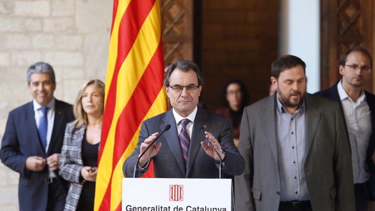 Artur Mas durante una rueda de prensa sobre la consulta soberanista