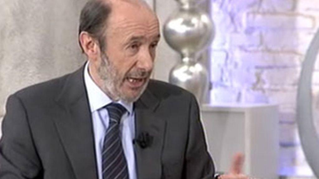 Alfredo Pérez Rubalcaba sí ha respondido a las preguntas de Marta Fernández en las Mañanas de Cuatro.