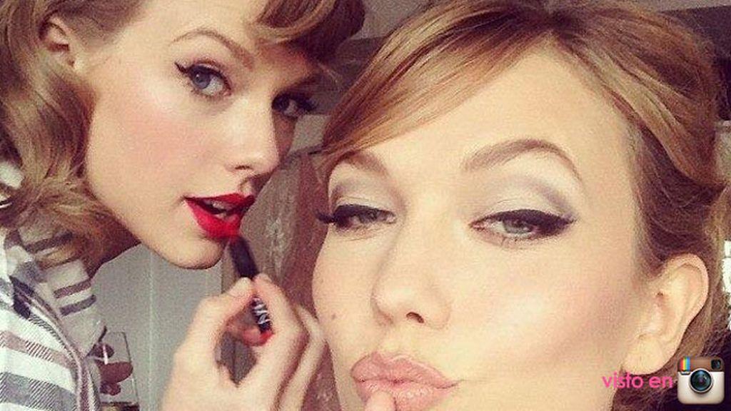Taylor Swift y Karlie Kloss se preparan para los MET 2014